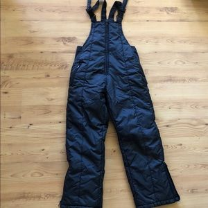 Unisex Swiss Alps Black Snow Pants